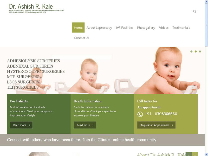 DR. ASHISH KALE:DOCTORS WEB SITE DESIGNING COMPANY IN PUNE, INDIA