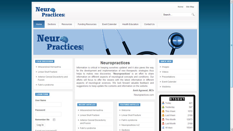 NEUROPRACTICES:HOSPITALS/HEALTHCARE WEBSITE DESIGNING COMPANY IN PUNE,INDIA